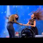 ميريام فارس تغني و ترقص عراقي في احد الافراح الخليجية