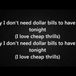 sia ft. sean paul - Cheap Thrills