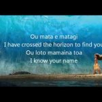 Know Who You Are With Lyrics Moana